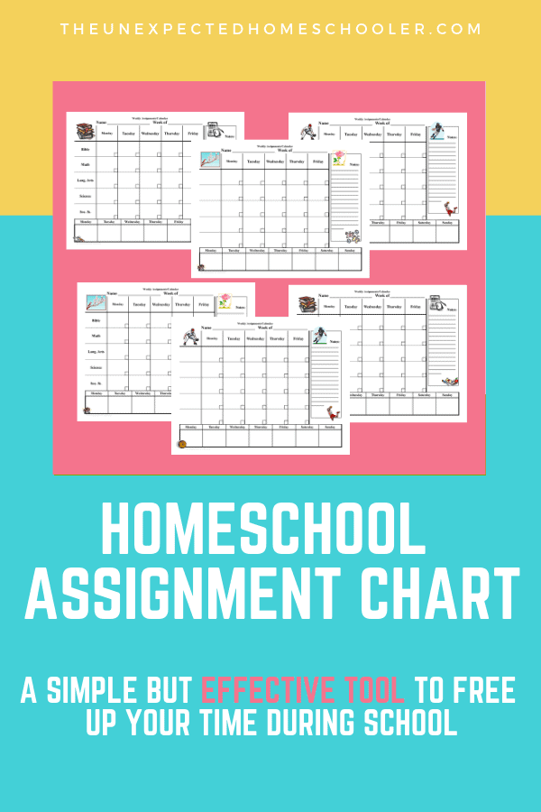 Homeschool Assignment Chart