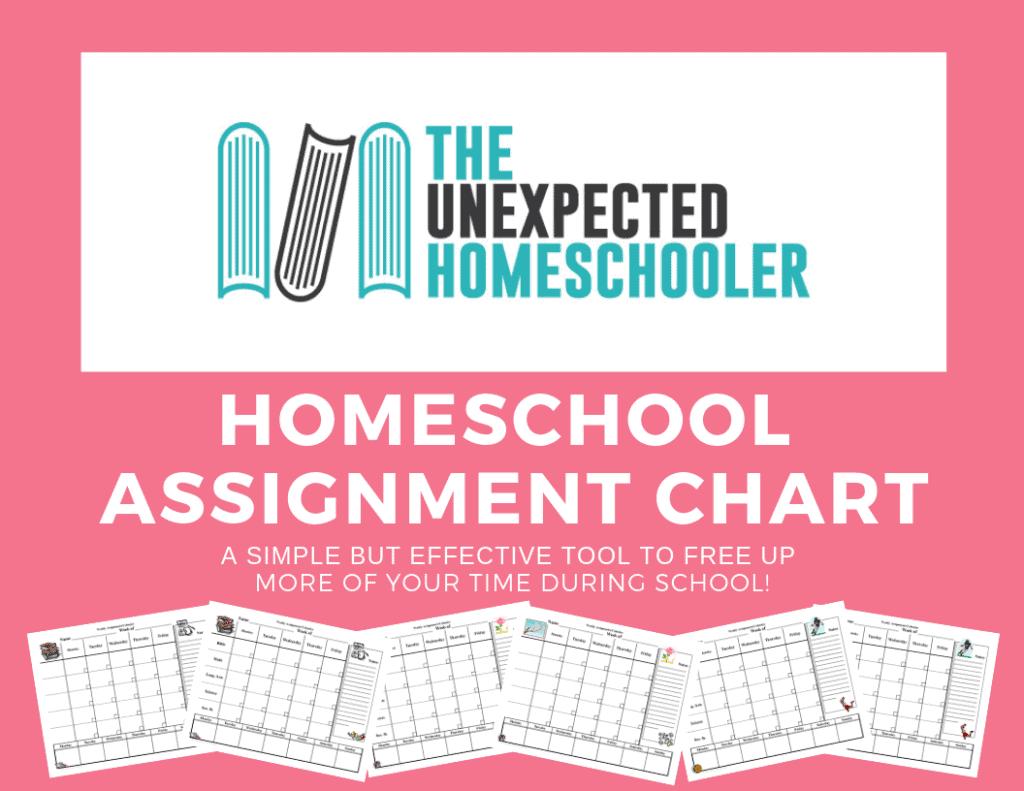 Homeschool Assignmnet Chart