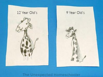 Creating a Masterpiece-Giraffe drawings