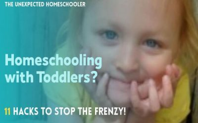 Homeschooling with Toddlers? 11 Hacks to Stop the Frenzy!