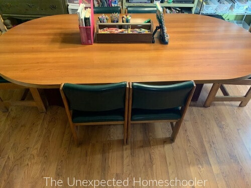 homeschool table