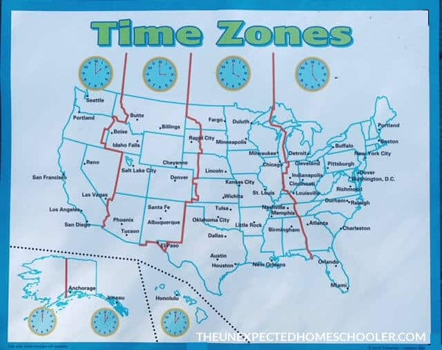 Time Zone Homeschool Poster