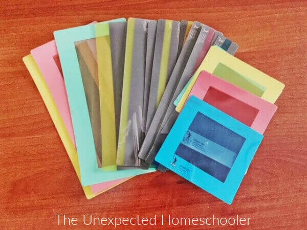Guided reading strips
